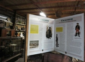 Cracker museum exhibit at Crowley Museum & Nature Center.