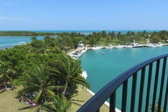 The view from the lighthouse on Boca Chita in Biscayne National Park.