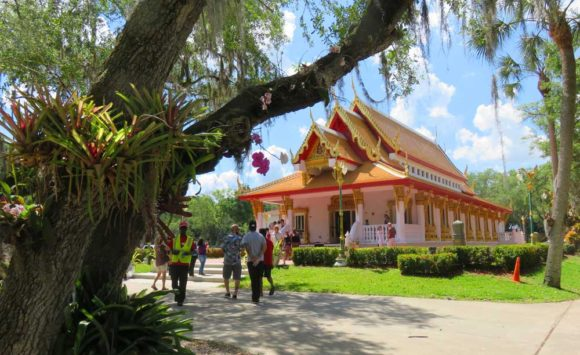 The ornate Tampa Thai temple is called Wat Mongkolratanaram or Wat Tampa.
