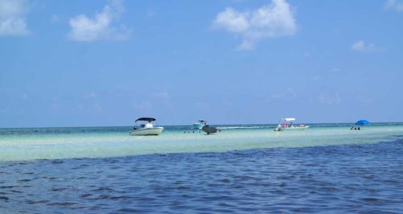 Sandspur beach sandbar (Photo courtesy Tamara Scharf)
