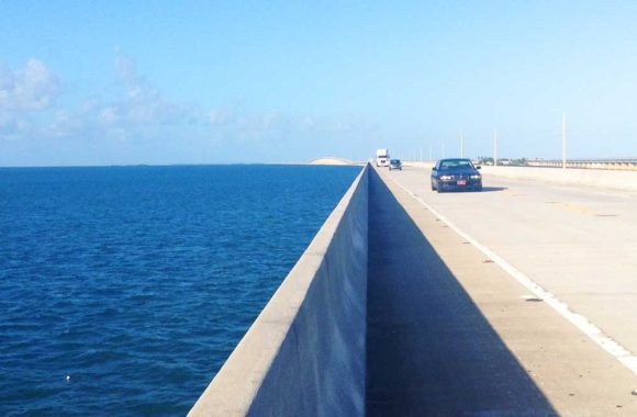 The view while walking the Seven Mile Bridge. Photo courtesy Tamara Scharf.