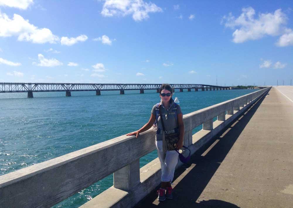 tamara scharf on bridge Walking from Key Largo to Key West: Six days solo on the Overseas Highway