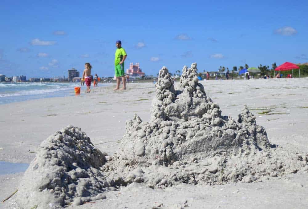 Sand castle version of Don CeSar Hotel on Pass A Grille beach.