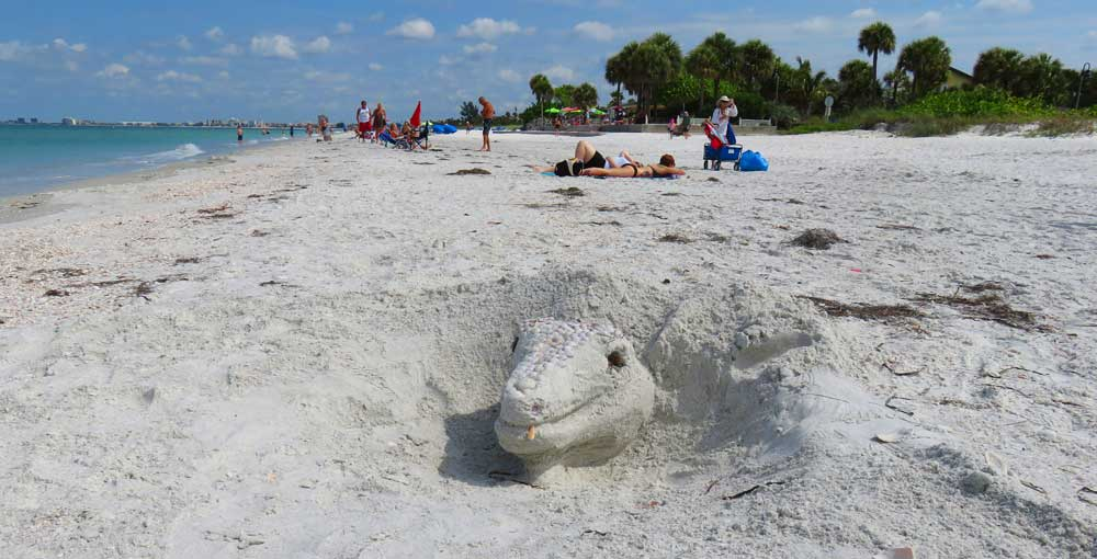 Pass-a-Grille beach is perfect for building sand castles.