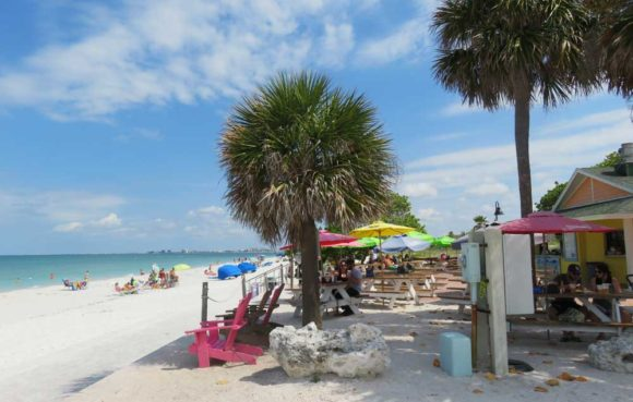 Best Florida beach towns: Paradise Grille on Pass-A-Grille beach.