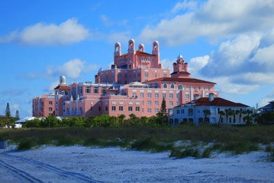 The Don CeSar Hotel marks the northern end of Pass A Grille.