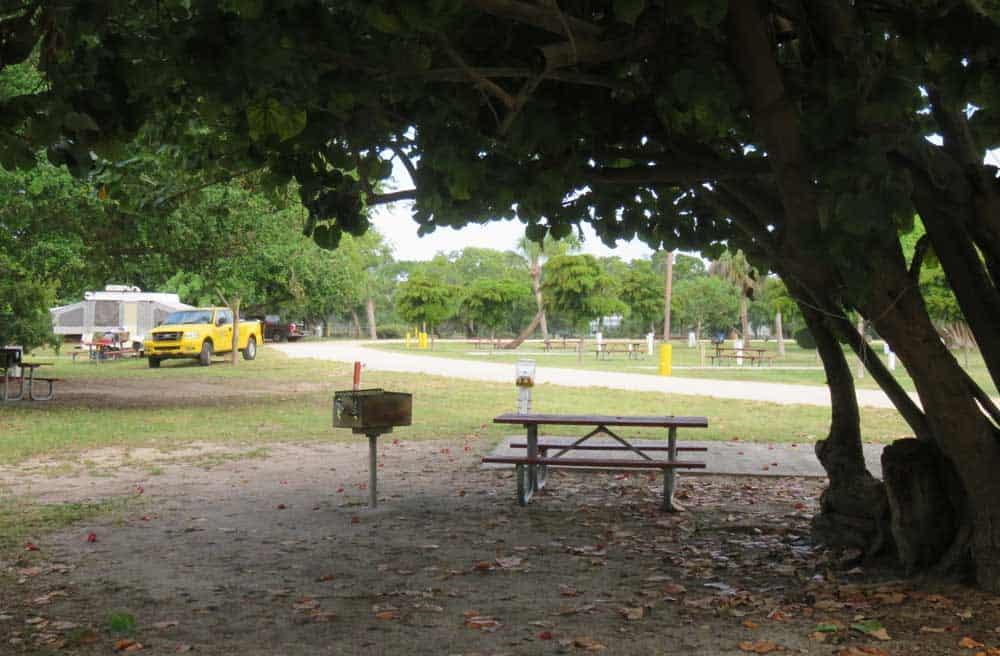 Jetty Park campsite in Cape Canaveral