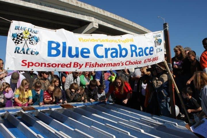 Blue Crab Race Florida Seafood Festival 1 Florida's oldest seafood festival in Apalachicola, Nov. 1-2, 2019