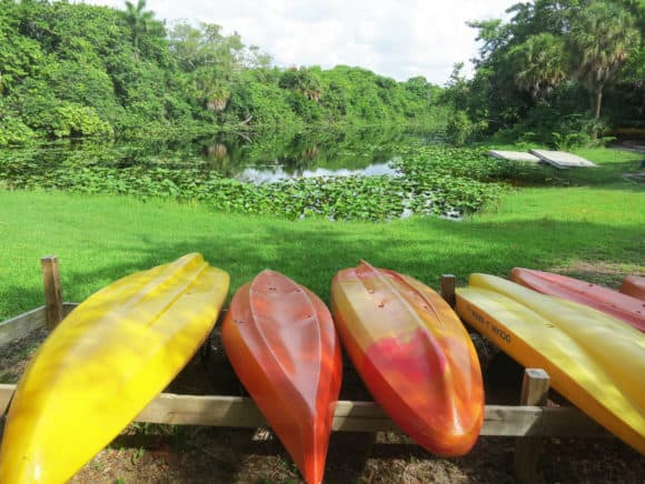 Kayaks at Hugh Taylor Birch State Park in Fort Lauderdale