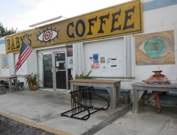 Baby's Coffee at MM 15 is a good place to start your ride on the Florida Keys Overseas Heritage Trail.