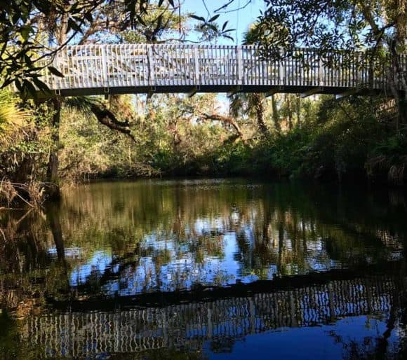 Bridge at Hickey's Creek Mitigation Park along the Caloosahatchee River.. (Photo: Bonnie Gross)