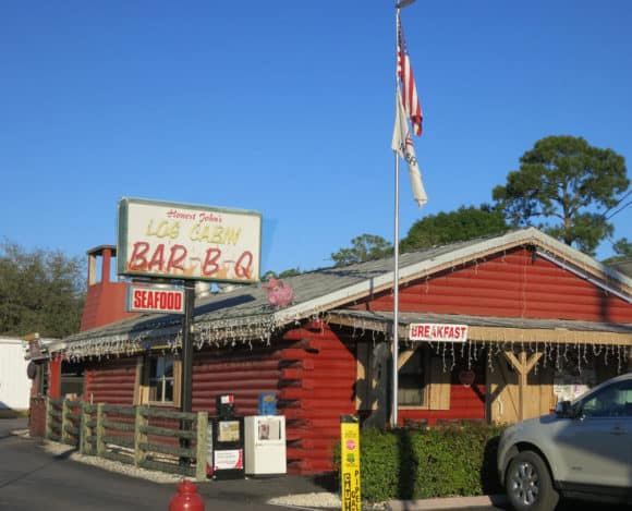 Log Cabin Bar-B-Q in LaBelle, a small town on the Caloosahatchee River.
