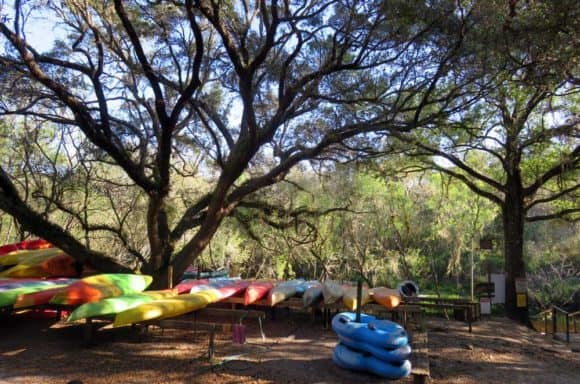 Canoe rental, campground and cabins at the Canoe Outpost on the Little Manatee River,  just upstream from Little Manatee River State Park. (Photo: Bonnie Gross)