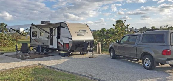 travel trailer at Jonathan Dickinson State Park