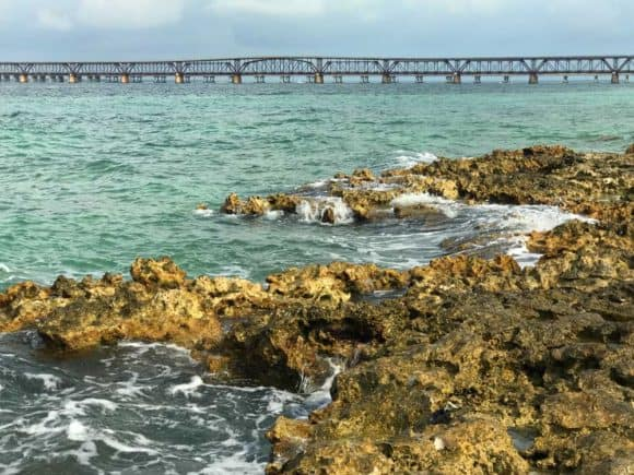 Little Bahia Honda Island, a popular destination when kayaking Bahia Honda State Park is two-thirds of a mile out in the Atlantic. It has a view of the historic saddleback bridge (Photo: Bonnie Gross)
