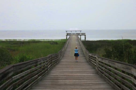 Lafayette Park in Apalachicola has a long pier extending into the bay. (Photo: Bonnie Gross)