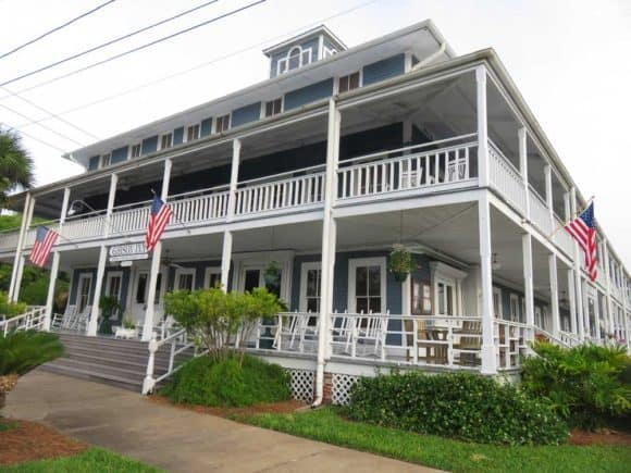 Things to do in Apalachicola: The 1907 Gibson Inn is the first thing you see in Apalachicola as you come over the causeway from the east.