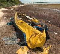 Makeshift refugee raft found on Big Pine Key