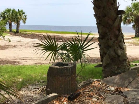 Wakulla Beach Road is a hard-packed sand road through a beautiful forest that ends at the Gulf where thousands of fiddler crabs cover the ground and the picturesque ruins of an old hotel are crumbling. It's a short drive off the Big Bend Scenic Byway.