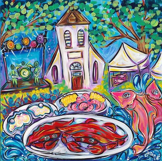 2019 Pensacola Seafood Festival Poster