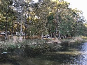 campground at three rivers state park