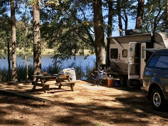 Campsite No. 15 at Three Rivers State Park