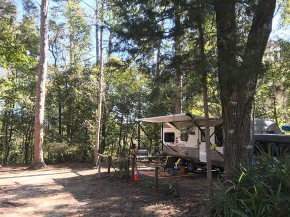 RV campsite at Torreya State Park