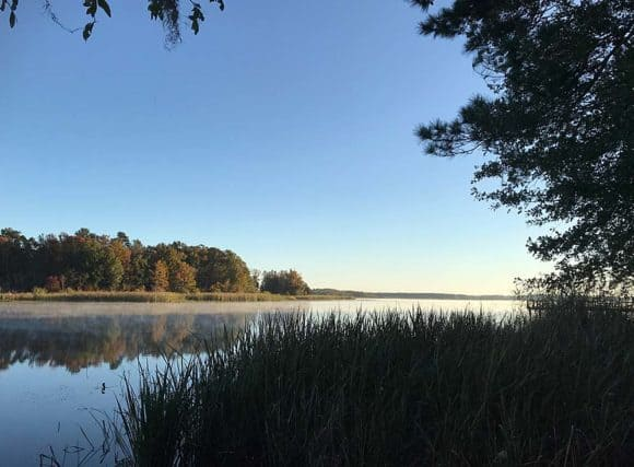 Best Florida State Parks: Hidden gems. Lake Seminole from the campground at Three Rivers State Park