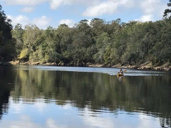 Paddling the Suwannee River Wilderness Trail.