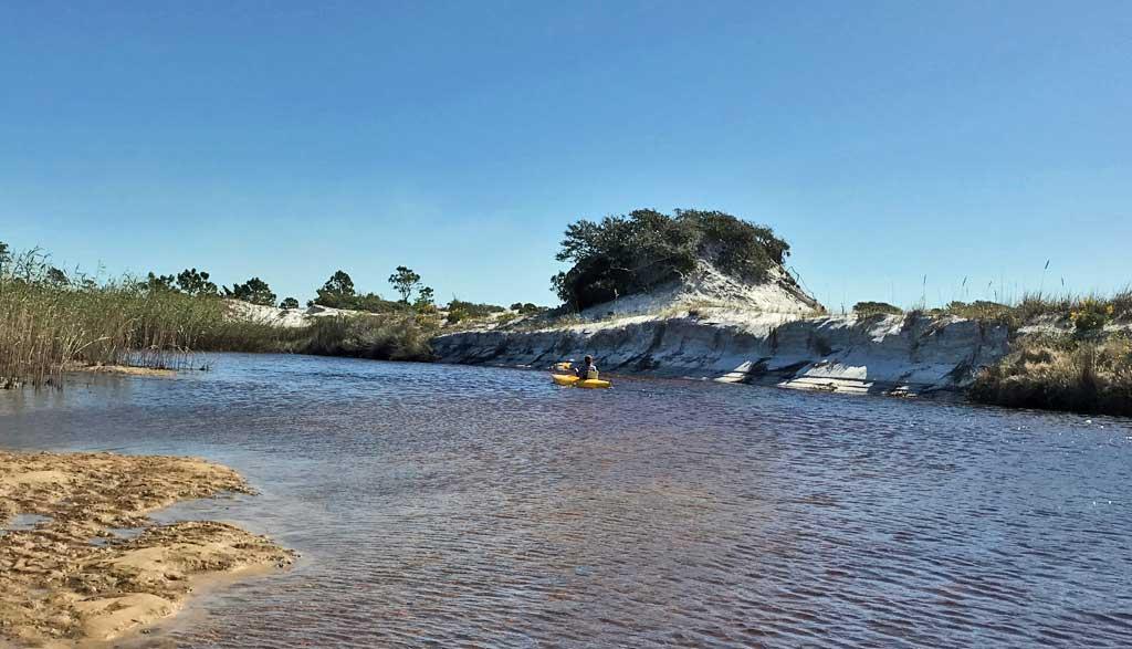 Paddling the dune lakes at Grayton Beach State Park.