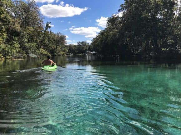 Kayaking the Rainbow River. (Photo: Bonnie Gross)