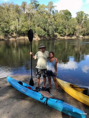 Bob and Kathy Rountree on the Suwannee River.
