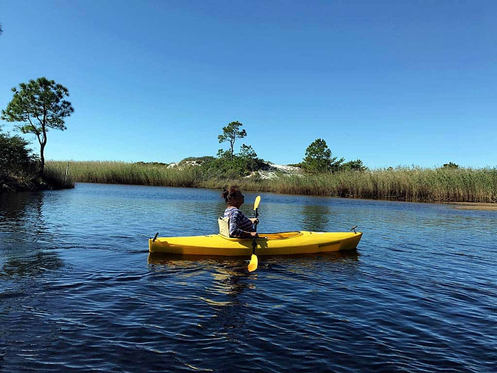 paddle on western lake at Grayton Beach State Park