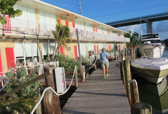 All the rooms at Gilbert's Resort face onto the docks and waterway. (Photo: David Blasco)