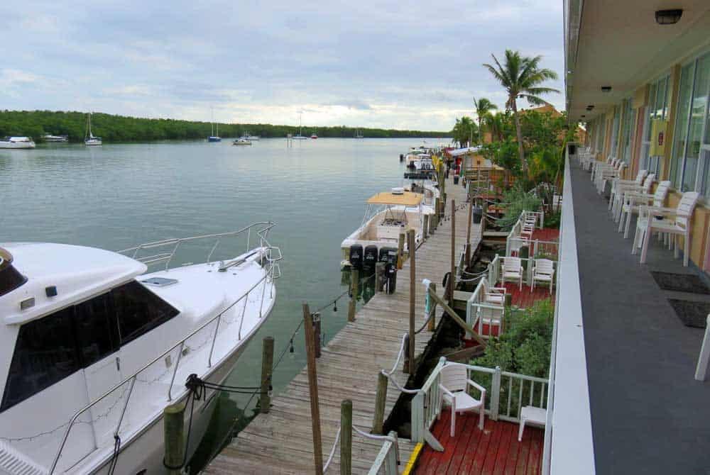 The view at the motel at Gilbert's Resort in Key Largo. (Photo: David Blasco)