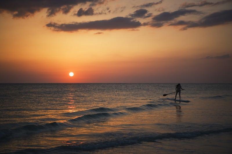 paddleboarding Tampa area beach