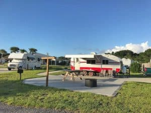 Riverside campground at Gamble Rogers State Park