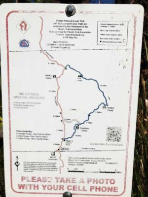 map of hiking trail Hike into the Everglades right from Alligator Alley
