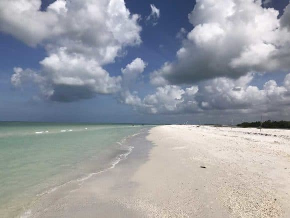 Things to do in Marco Island: Wade over to vast wild Tigertail Beach.(Photo Bonnie Gross)