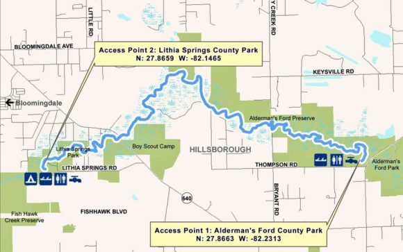 Alafia map 2 Primitive camping at Alderman's Ford: Kick it up a notch