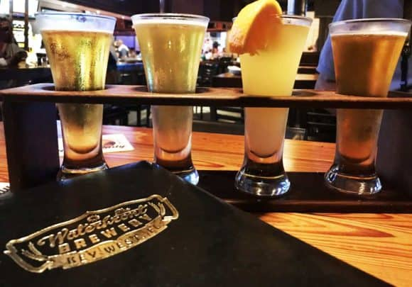 Sampler at Waterfront Brewery in Key West (Photo: Bonnie Gross)