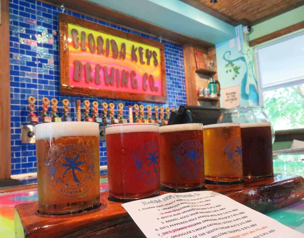 Sampler at Florida Keys Brewery in Islamorada. (Photo: Bonnie Gross)