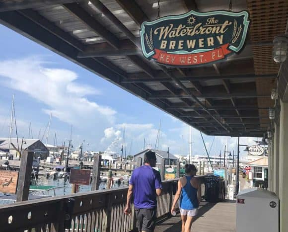 Key West breweries: Waterfront Brewery in Key West has an unbeatable location. (Photo: Bonnie Gross)
