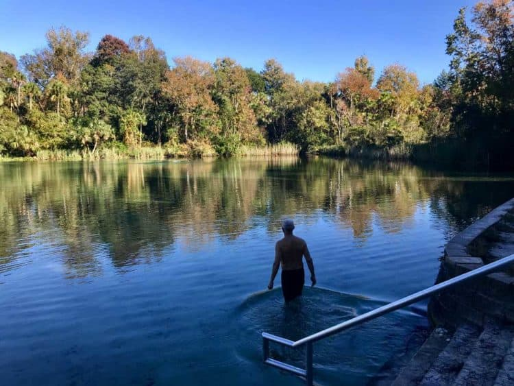 The swimming area at Alexander Springs in Ocala National Forest is excellent -- if you like 72 degree water. (Photo: Bonnie Gross)