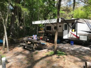 Our campsite (#36) at Hillsborough River State Park. (Photo by Bob Rountree)