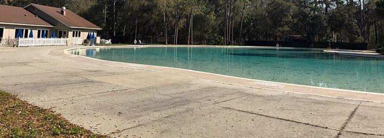 Swimming pool at Hillsborough River State Park
