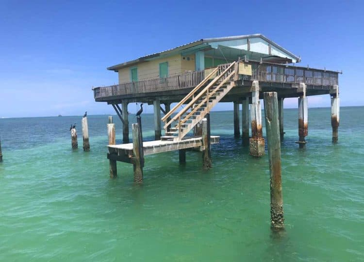The Bay Chateau house on the Stiltsville tour. (Photo: Bonnie Gross)