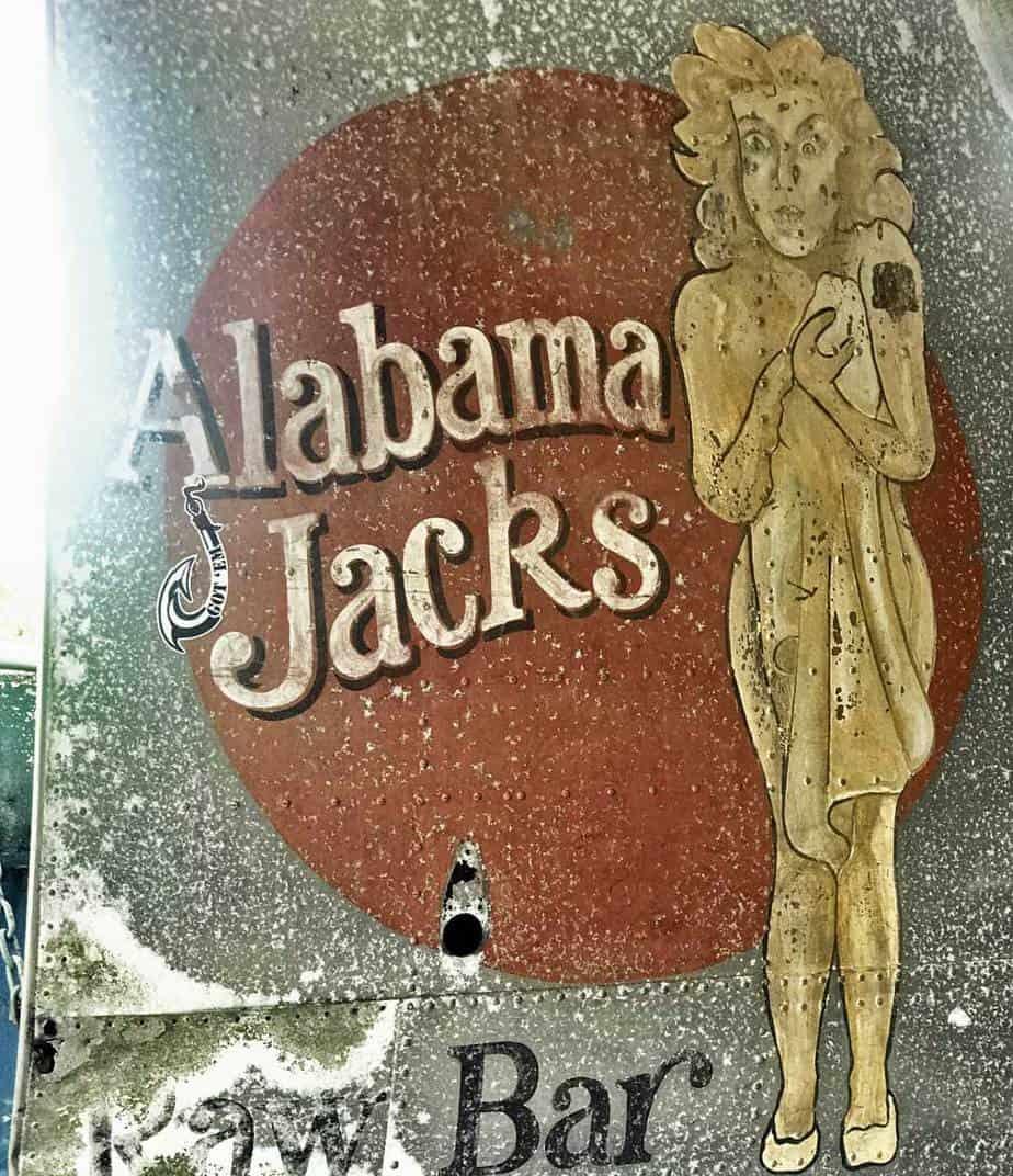 Vintage sign at Alabama Jack's on Card Sound Road. (Photo: Bonnie Gross)