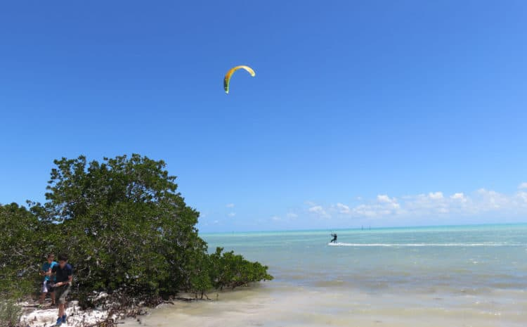 Windsurfers love Anne's Beach in Islamorada, one of the best beaches in the Floriday Keys. (Photo: Bonnie Gross)