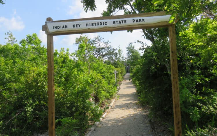 The paths at Indian Key Historic State Park follow the roadways of the 1830s town. (Photo: David Blasco)